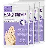 (4-par) Fuktgivande handmask som berikat med kollagen, sheasmör och vitamin-E för att återuppliva torr, grov och sprucken hud