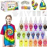Gifort Tie Dye Kit, Textiles de Tela Colores Vibrantes Pinturas Tinte Ropa Graffiti para Proyectos de Bricolaje y Actividades
