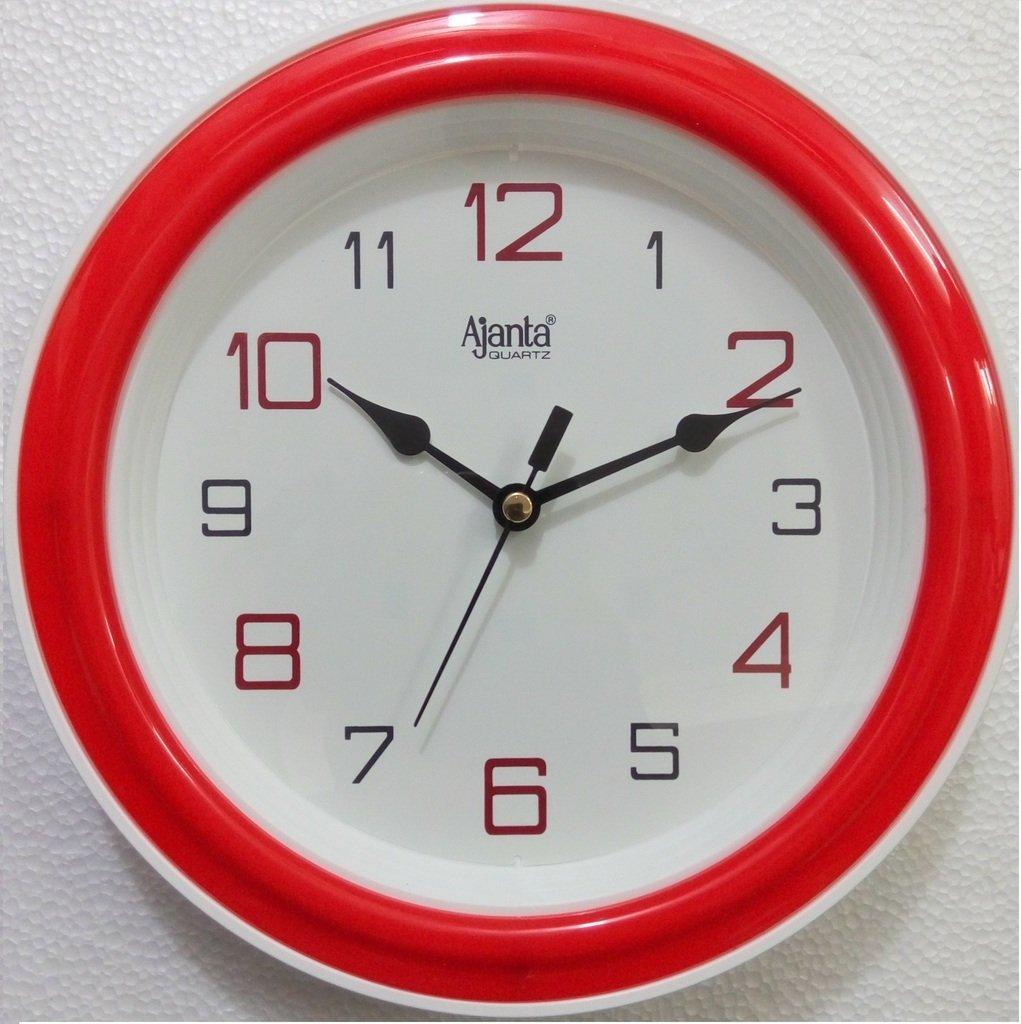 Buy ajanta quartz round plastic wall clock 205 cm x 35 cm x buy ajanta quartz round plastic wall clock 205 cm x 35 cm x 205 cm blue online at low prices in india amazon amipublicfo Images