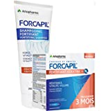 FORCAPIL Fortifiant KERATINE - KIT COMPLET - Shampoing FORTIFIANT + 180 gélules Forcapil Cheveux et ongles - Arkopharma