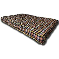 Rajasthan Handloom Primium Quality Soft Cotton Multicolour Mattress | Cotton Gadda (Box Rectangle Type 3 x 6 ft OR 72 x…