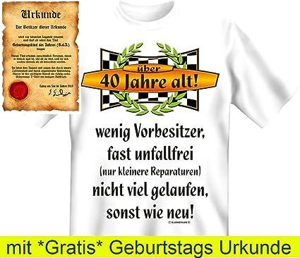 Witzige Geburtstag Sprüche Fun Tshirt! Über 40 Jahre Alt!   T Shirt In