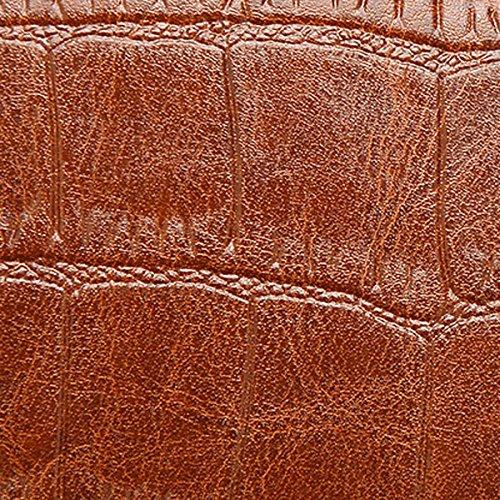 Frauen Vintage PU Leder Schultertaschen Top-Griff Handtasche Tote Tasche Geldbörse Umhängetasche Gray