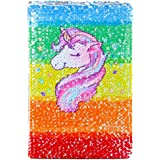 Jiada Unicorn (Sequin Notebook Colour Changing Reversible Girls Diary A5 Size - Assorted Colours and Designs)