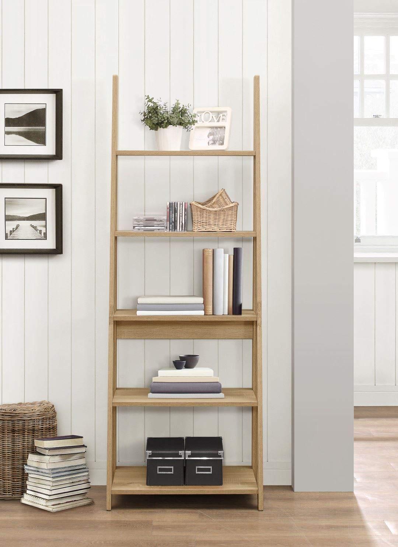 71OYCbkUtVL - Birlea, Dayton, Ladder Bookcase, Wood, Oak, One Size