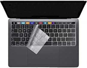 """Macbook A1706 / A1707 Transparent Keyboard Skin - Laprite Keyboard Cover Skin for Newest 2017 / 2016 with Touch Bar Macbook Pro 13"""" 15"""" ( Model:A1706 / A1707 ) Waterproof & Dust-Proof - Transparent"""