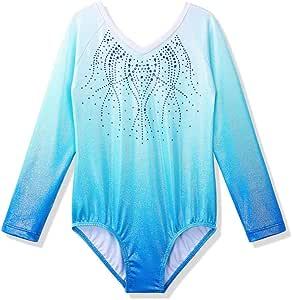 ZNYUNE Ragazze Manica Lunga Ginnastica Leotards Balletto Body Costumi di Danza per Bambine 3-12 Anni