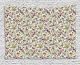xhfitcltd mexikanischen Stickset, bunt, Natur inspiriert Ethno Muster Vögel Blumen Blätter und Dots Kreativität zum Aufhängen, für Schlafzimmer Wohnzimmer Wohnheim, 60W x 40L Zoll, multicolor 80