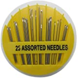 SRB Creations Hand Sewing Needles, Set of 25 Assorted Needles, 1-Pack