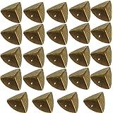 24 x antieke meubelhoeken, hoekbeschermer, beschermende hoeken, metalen beslag voor kisten, boxen meubels plank tafel, randbe