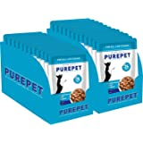 PUREPET Wet Dog Food, Chicken and Vegetable Chunks in Gravy, 24 Pouches (24 x 70g)