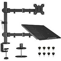 BONTEC Support de Moniteur Simple avec Plateau pour Ordinateur Portable pour Ecran LCD LCD 13 à 27 Pouces et Ordinateur…