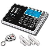 Olympia Protect 9761 Gsm Haus Alarm Alarmanlagen Set Mit 4 Tür Fensterkontakten 1 Bewegungselder Und Fernbedienung Schwarz Baumarkt