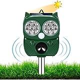 Répulsif Chat Ultrason,Repulsif Chien, Charge Solaire,Chargement USB Prévenir Les Chiens et Les Chats, Les Oiseaux, pour Jard
