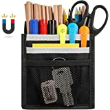 Magnetic Pencil Holder, Built-in Strong Neodymium Magnets, 3 Compartments Pen Marker Organizer, Storage Pocket for Whiteboard