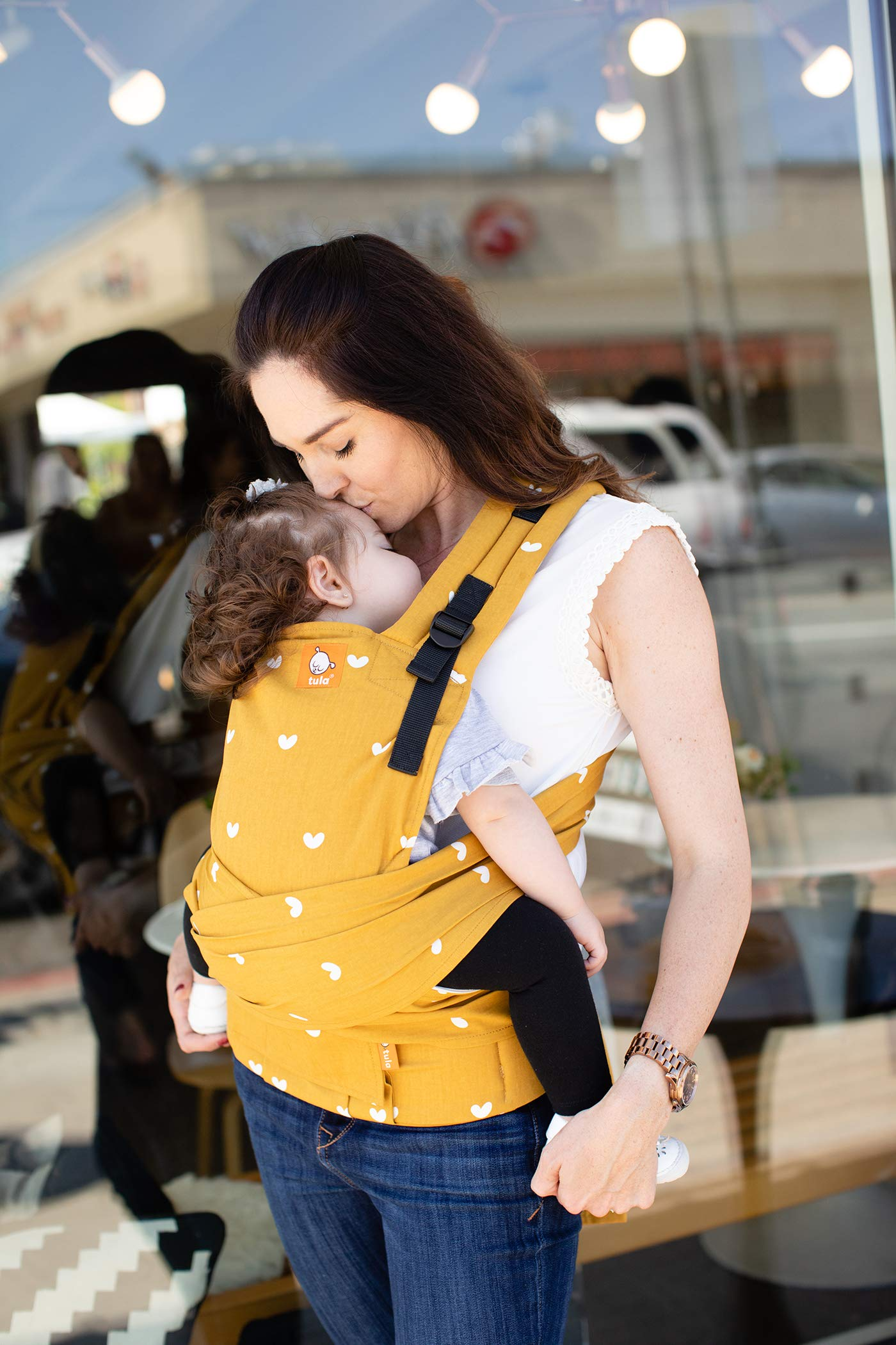 Tula Half Buckle TBCA5G1 Play - Asian Inspired Hybrid Baby Carrier with Padded Shoulder Straps with Crossover Option for Babies 3 2 to 20 4 kg Tula Multiple door positions: front inward, hip and back EASILY ADJUSTABLE DESIGN: Main panel with adjustable height and width, allowing for ergonomic and tight positions as baby grows. For babies from 3, 2 to 20, 4 kg Its long fabric straps wrap around the body allowing for the perfect fit. 5