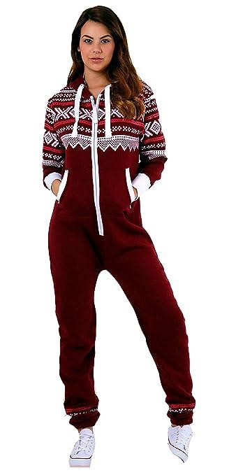 Juicy Trendz Dame Frauen Unisex One Zip Onesie Jumpsuit Playsuit Anzug