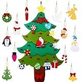Legendog Árbol de Navidad de Fieltro, 3.2ft Bricolaje árbol de Navidad de Fieltro/arbol de Navidad de Fieltro para niños Deco