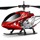 Syma S107H-E Mini RC Helicopter, Alloy Remote Control Helicopter with Gyro and LED Light 3.5-Channel Aeroplanes Toy with with Altitude Hold Indoor for Kids and Adults Beginners Gift