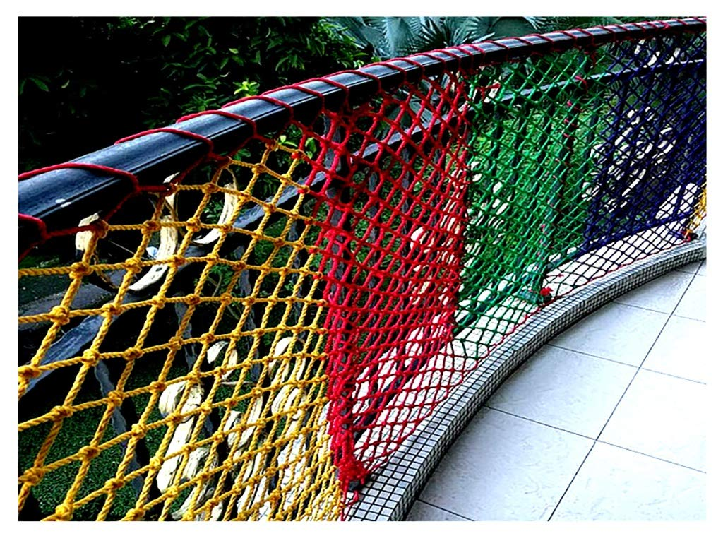 Orange Child safety net protective net balcony stairs anti-fall net kindergarten color decorative net fence network Width 1/4M Length 1M /9M Hand braided traditional structure (Size : 4 * 5m)  [Protect children's safety]: Many children fall from the building, let us understand that the safety of children can not be ignored. [Polyester knotless woven mesh]: The mesh surface has large pulling force, and the double needle has no knot woven mesh hole, so that the mesh has stronger impact resistance. [wire diameter 6MM, mesh spacing 4CM]: Escort for baby safety.(Others available in our shop) 6