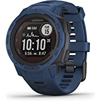 Garmin Instinct Solar Tidal Blue Smartwatch (No-Cost EMI Available)