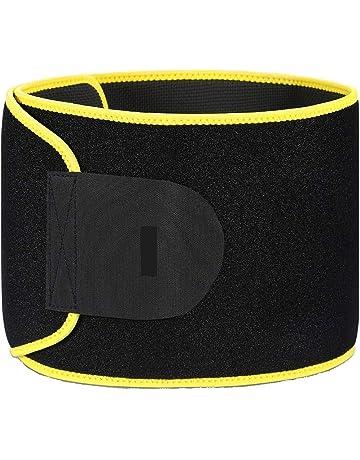 ca4cf5c5 ADA Waist Trimmer Belt Slimming Neoprene Ab Belt Trainer for Faster Weight  Loss, Stomach Fat