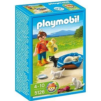 Playmobil , 5126 , Jeu de construction , Famille de chats et enfant