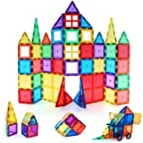 Snaptron Magnetic Tiles 60 pcs with Storage Box for Kids, Multi Color