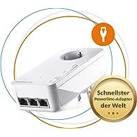 devolo Magic 2 LAN – 2400 triple Single Adapter: Weltweit schnellster Powerline LAN-Adapter zur Erweiterung des Heimnetzwerks, ideal für Home Office (2400 Mbit/s, 3x Gigabit LAN-Anschlüsse, G.hn)