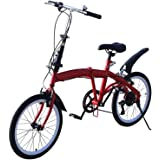 Vouwfiets, 20 inch (20 inch), vouwfiets, mountainbike, damesfiets, instelbare zithoogte, 7 versnellingen, dubbele V-rem