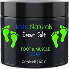 Casa Allegra Insta Naturals Epsom Salt,Pack of 2 For Foot and Muscle Soak Relaxation and Relieves Pains and Aches - 150 Grams