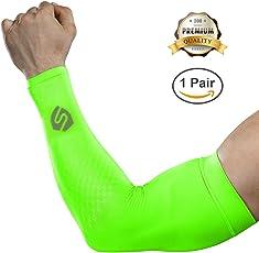 Shinymod UV-Schutz Armlinge 2018 verbesserte Version 1 Paar / 3 Paar Sonnenschutz Arm Kompression Tattoo Cover Armstulpen Frauen Männer für alle Outdoor-Aktivitäten Hautschutz
