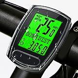 IPSXP Contachilometri Bici cablato, Impermeabile Computer da Bicicletta Display retroilluminatoper Tachimetro Multifunzione B