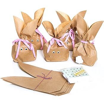 5 Stuck Set Kleine Ostern Geschenktuten Osterhase Basteln Natur