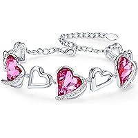 CDE Armband Damen Schmuck mit Elegante Geschenkverpackung, Herz Armkettchen Anhänger Geschenke für Muttertagsgeschenk…