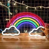 Regenbogen LED Leuchtreklamen, trounistro Bunte Neonlampe Nachtlichter, USB-betriebene Leuchtschilder für Weihnachten Geburts