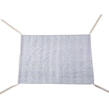 Moonuy infantile hamac extérieure détachable Portable confortable Kit lit portatif amovible berceau Hamac Bébé 100% Coton barre séparation bois housse suspendu balançoire à accrocher (F)