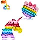 2 Pièces par mois chez nous Push Pop Bubble Sensory Fidget Toy, Autisme Sensory Toys Cadeaux pour Adultes et enfants, Poppets