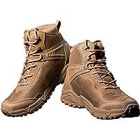 FREE SOLDIER pour Homme Mid Haute durabilité Lacets Bottes Durable Imperméable Armée Combat Chaussures Respirant…