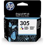 HP 305 3YM60AE, Cartuccia di inchiostro originale tricolore, compatibile con stampanti a getto d'inchiostro HP DeskJet 2700,
