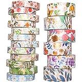 YUBX Or Washi Tape Ruban Adhésif Papier Décoratif Feuille VSCO Masking Tape pour Scrapbooking Artisanat de Bricolage 8/15mm d