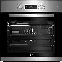 Beko BIM22300X Backofen Elektro / A / 66 L / Heißluft mit Ringheizkörper / 3D Kochen /  Simple Steam Reinigungsfunktion /  8 Heizarten / silber