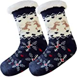 Wishstar Calze a Pantofola Donna Uomo, Calze Antiscivolo Invernali da Casa, Calzini Natale (35-42)