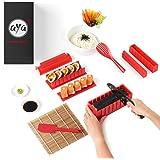 Sushi kit - Sushiaya da sushi Maker Deluxe rosso completo con coltello e esclusiva online video tutorial 11 Piece DIY sushi s