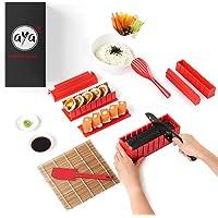 Le Sushi Maker AYA - Appareil et Moules à Sushi - Kit de Préparation à Sushi et Maki - 11 pièces - avec couteau expert…
