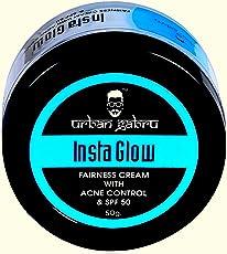 UrbanGabru Insta Glow Fairness Cream with Anti pimple and SPF 50 - No Parabens or Sulphates