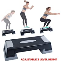 FITSY® Aerobics Stepper Board with Adjustable Height 23 cm, Black