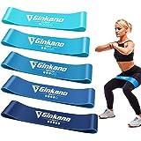 Haquno Elastici Fitness[Set di 5],Fascia Elastici Fitness Elastica per Il Fitness in Lattice Naturale,utilizzata per l'allena