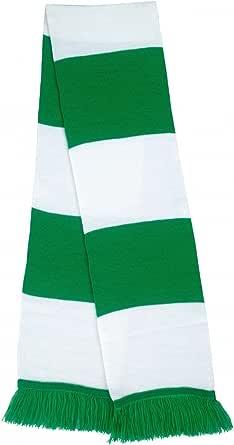 Green & White Bar Scarf