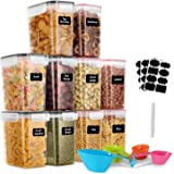 GoMaihe 1.6L Contenitori Alimentari per Cereali, Contenitori Ermetici Alimentari Plastica con Coperchio per Alimenti 10 Pezzi